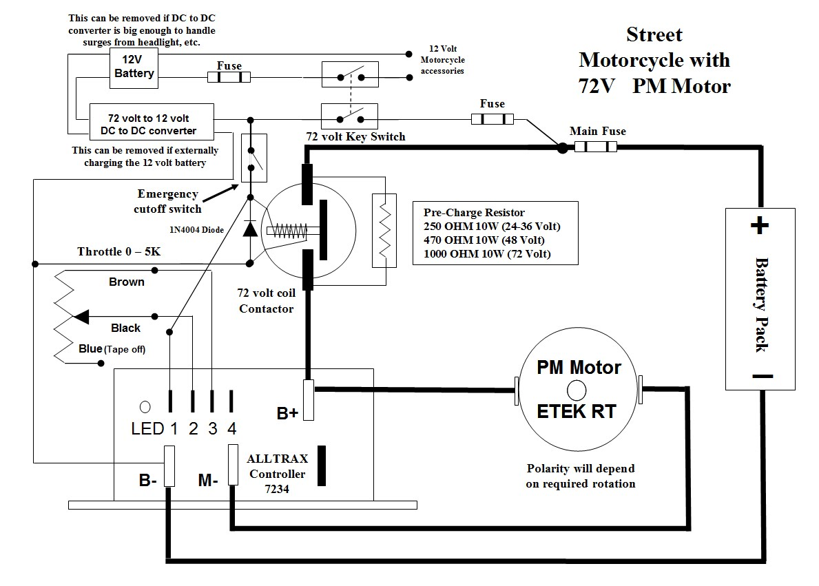 Kill Switch Archive The Electric Motorcycle Forum Wiring Diagram For 120v Coil Contactor