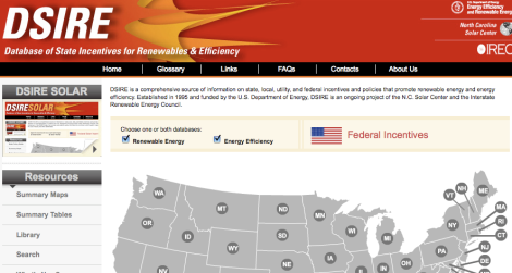 Database of State Energy Incentives