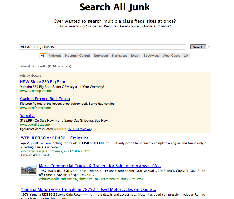 Search All Junk – CraigsList Search Engine   The Electric